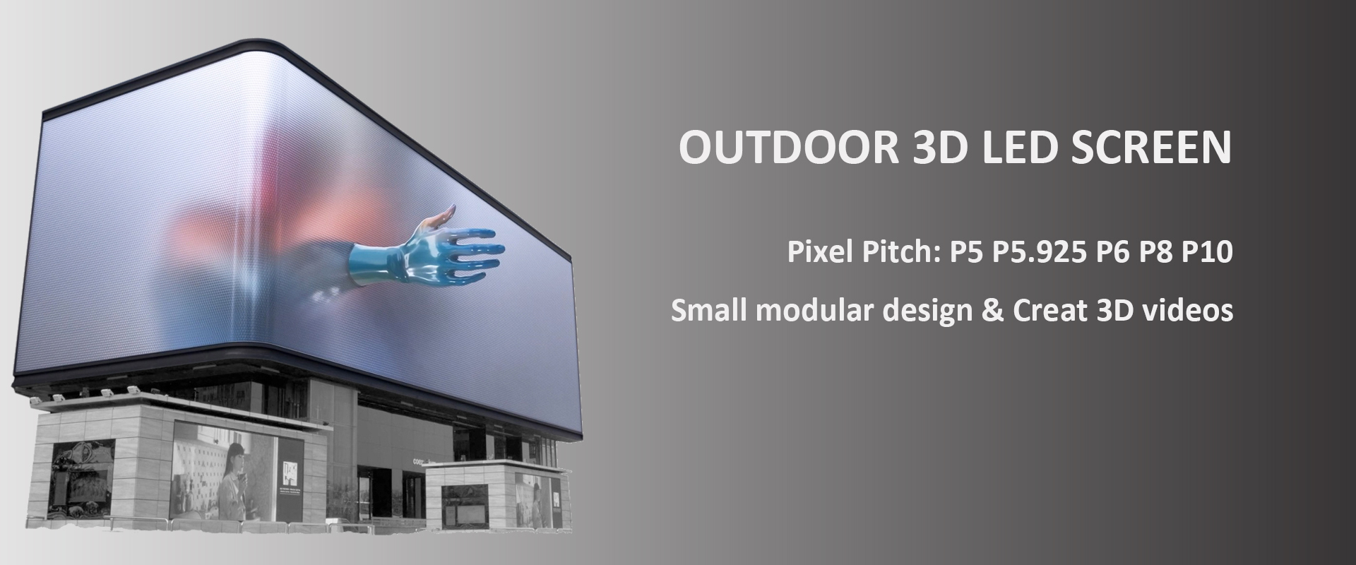 outdoor 3d led screen